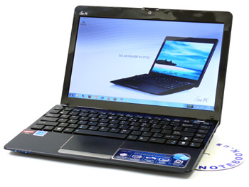 ASUS Eee PC 1215B - mušle na cesty