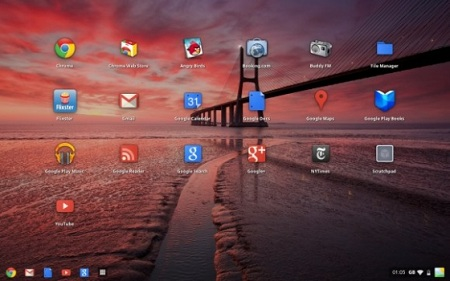 Google Chrome OS získal desktop manager