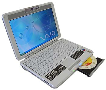 SONY VAIO PCG-TR1MP - prcek s optickou mechanikou
