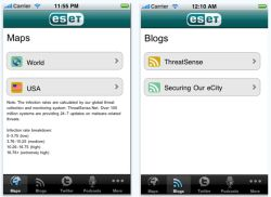 ESET Threat Center - aplikace pro Apple iPhone