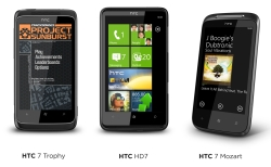 HTC 7 Mozart, HTC 7 Trophy a HTC HD7
