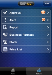 SAP Business One pro iPhone a iPad zdarma