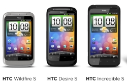 HTC Desire S, HTC Wildfire S a HTC Incredible S